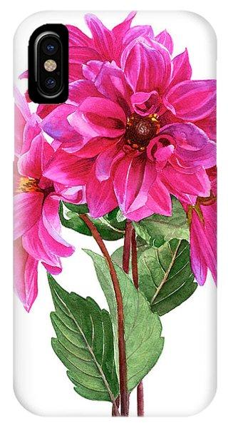 Dark Violet iPhone Case - Bouquet Of Rose Violet Dahlias by Sharon Freeman