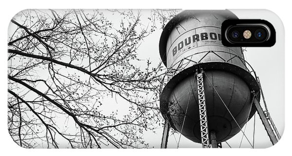Bourbon Whiskey Water Barrel Tower - Monochrome IPhone Case