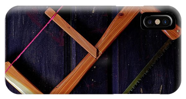 IPhone Case featuring the photograph Bow Saw by Daniel Reed