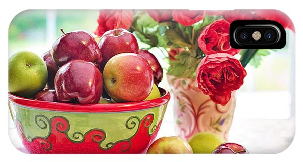 Bowl Of Red Apples IPhone Case