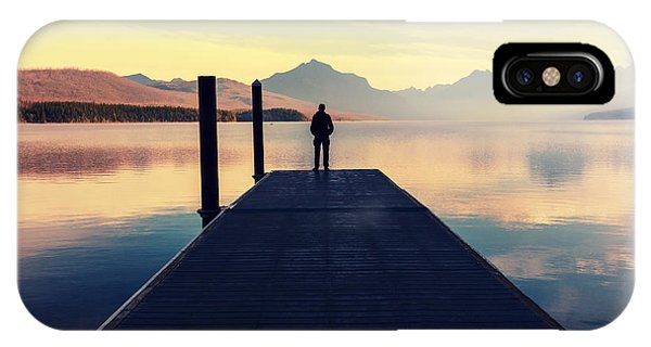 Serenity iPhone Case - Bowman Lake In Glacier National Park by Galyna Andrushko