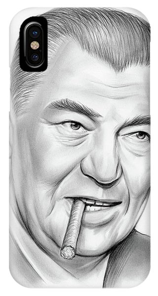 Sketch iPhone Case - Boxer Jack Dempsey by Greg Joens