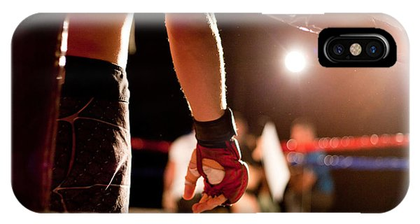 Strength iPhone Case - Boxing Match by Aerogondo2