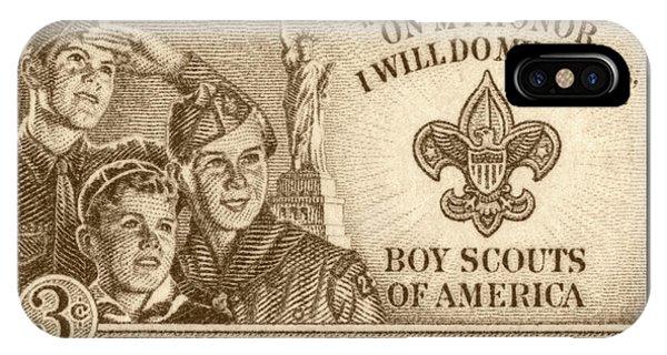 Work iPhone Case - Boy Scouts 1950 by Greg Joens