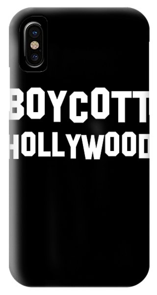 Boycott Hollywood IPhone Case