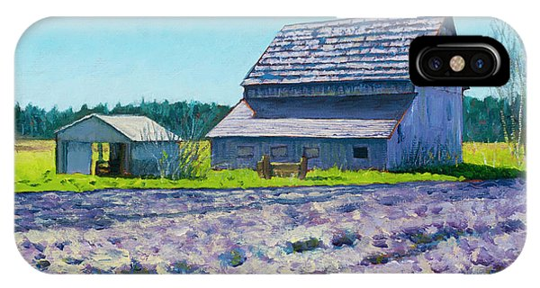 Whidbey iPhone Case - Boyer Barn by Stacey Neumiller