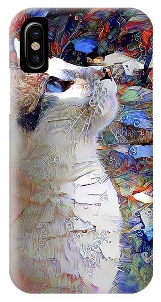 Brady The Half Siamese Half Tabby Cat IPhone Case
