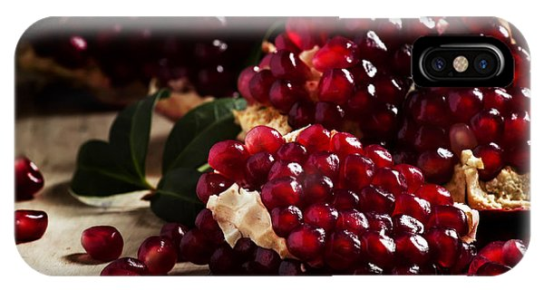 Ripe iPhone Case - Break Azerbaijan Pomegranate On An Old by 5ph