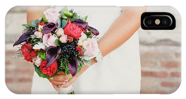 Bridal Bouquet Held By Her With Her Hands At Her Wedding IPhone Case