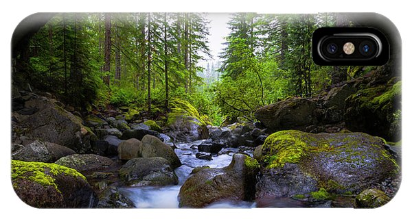 Road iPhone Case - Bridge Below Rainier by Chad Dutson