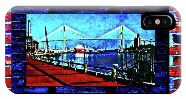 IPhone Case featuring the photograph Bridges And Walls  by Aberjhani
