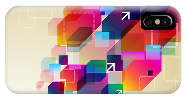 Space iPhone Case - Bright Abstract Background by Boroboro