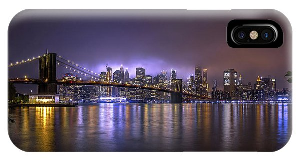 Long Exposure iPhone Case - Bright Lights Of New York II by Nicklas Gustafsson