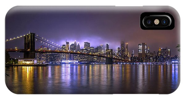 Bridge iPhone Case - Bright Lights Of New York II by Nicklas Gustafsson