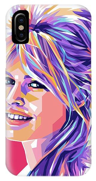 Brigitte Bardot Pop Art IPhone Case