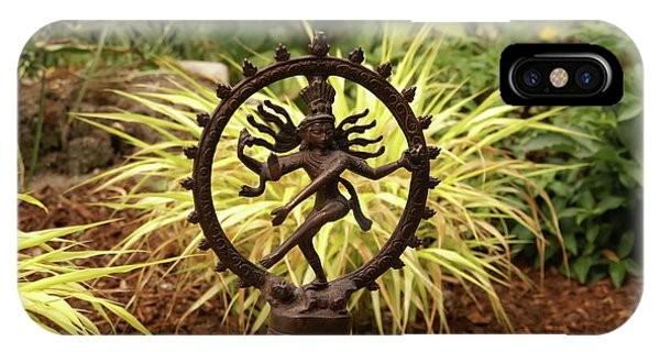 Bronze Shiva In Garden IPhone Case