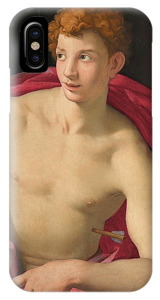 Gateway Arch iPhone Case - Bronzino -monticelli 1503 - Florence 1572-. Saint Sebastian -ca. 1533-. Oil On Panel. 87 X 76.5 Cm. by Il Bronzino -1503-1572-