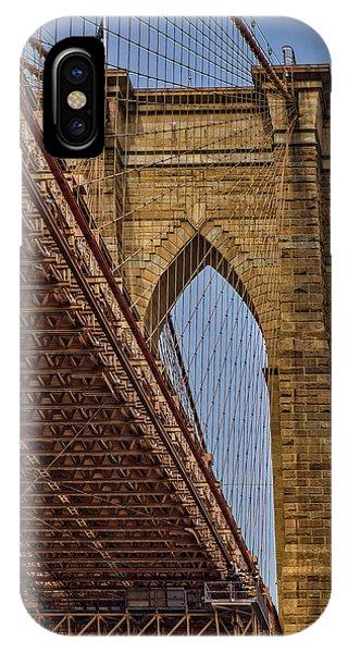 iPhone Case - Brooklyn Bridge Over And Under by Susan Candelario