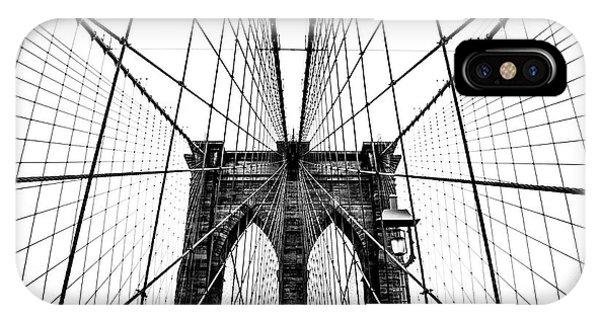 Road iPhone Case - Brooklyn Bridge Web by Nicklas Gustafsson