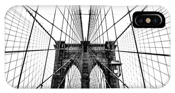 Bridge iPhone Case - Brooklyn Bridge Web by Nicklas Gustafsson