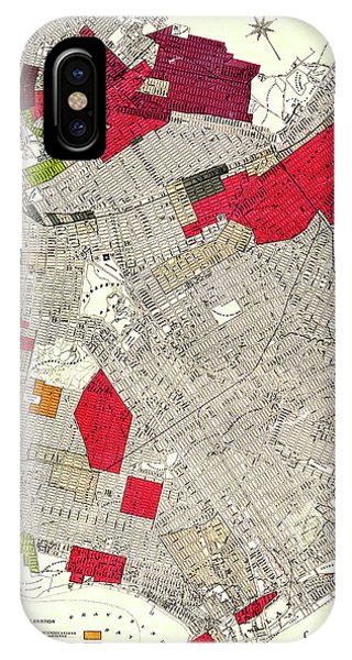 iPhone Case - Brooklyn New York Racial Colonies Map 1920 by Zal Latzkovich