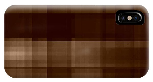 IPhone Case featuring the digital art Brown Plaid by Rachel Hannah