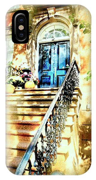 Brownstone iPhone Case - Brownstone Steps by Diana Angstadt