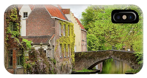 IPhone Case featuring the photograph Bruges Footbridge Over Canal by Nathan Bush
