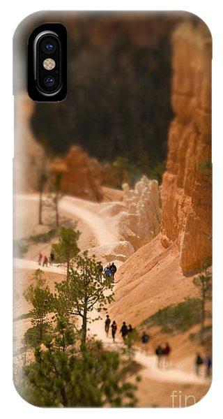 Hiking Path iPhone Case - Bryce Canyon Tilt-shift by Jenna Dosch