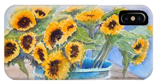Bucket Of Sunflowers IPhone Case