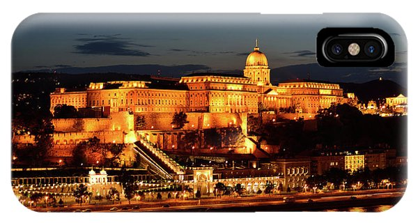 iPhone Case - Budapest Castle At Night by Kathy Yates