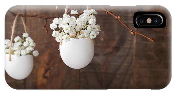Nature Still Life iPhone Case - Bunch Of Of White Babys Breath Flowers by Nella