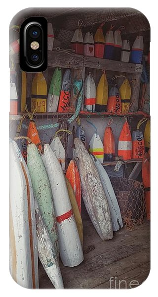 Buoys In A Sea Shack IPhone Case
