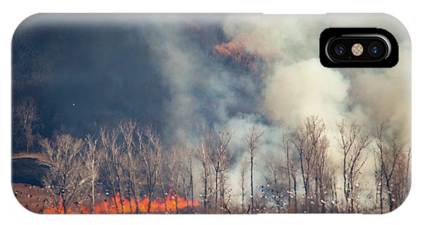 IPhone Case featuring the photograph Burning Squaw Creek by Jeff Phillippi