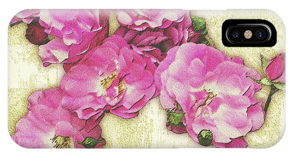 Bush Roses Painted On Sandstone IPhone Case