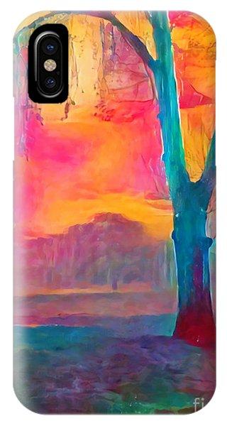 Bush Sunset  IPhone Case