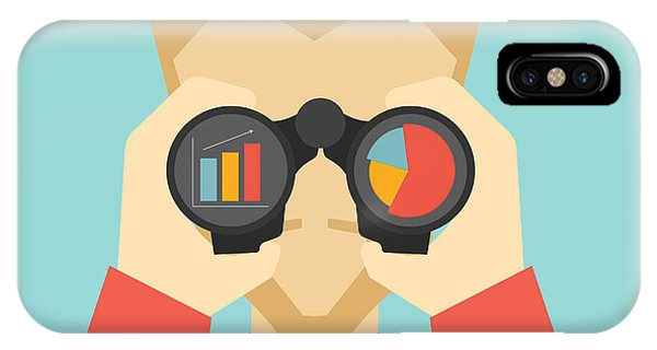 Vector iPhone Case - Business Vision Concept. Man Looking by Milles Vector Studio