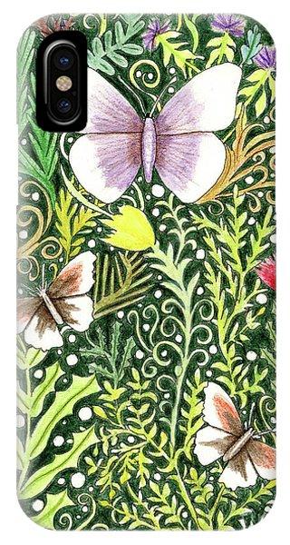 Butterflies In The Millefleurs IPhone Case
