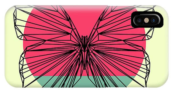 Lynx iPhone Case - Butterfly And Sunset by Naxart Studio