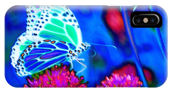 Butterfly Blue IPhone Case