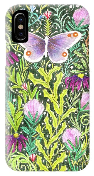 Butterfly In The Millefleurs IPhone Case
