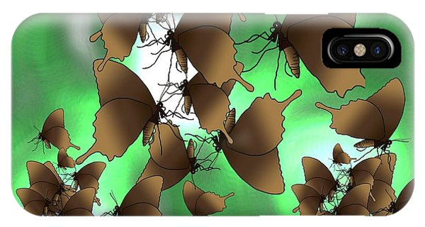 iPhone Case - Butterfly Patterns 15 by Joan Stratton