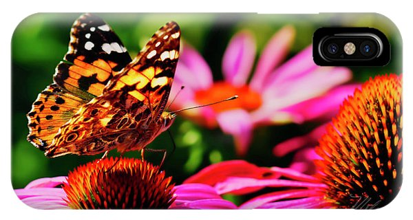 IPhone Case featuring the photograph Butterfly Side by Meta Gatschenberger