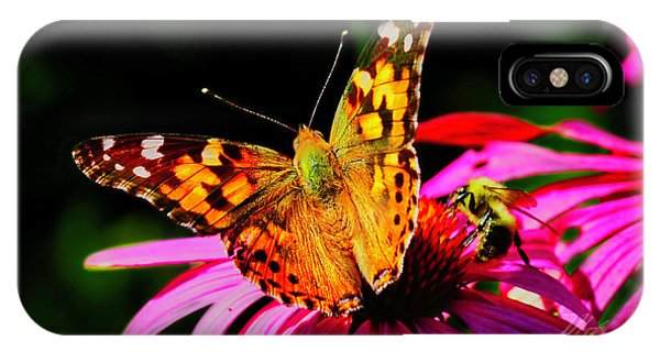 IPhone Case featuring the photograph Butterfly Wings Open by Meta Gatschenberger