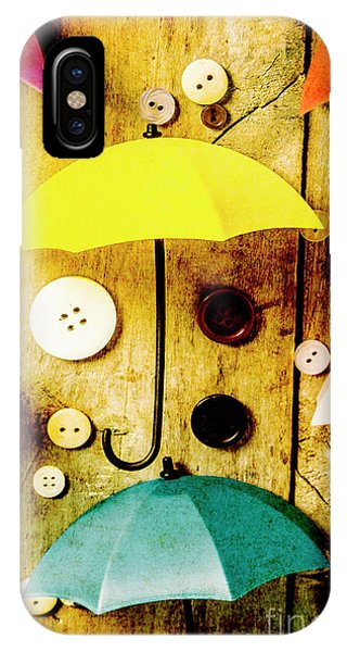 Parasol iPhone Case - Button Storm by Jorgo Photography - Wall Art Gallery