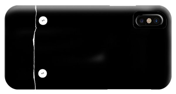 IPhone Case featuring the photograph Buttons - A Tribute - Black by VIVA Anderson