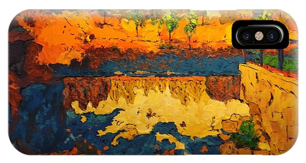 IPhone Case featuring the painting By The Basin by Ray Khalife