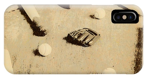 Weathered iPhone Case - Bygone Baseball by Jorgo Photography - Wall Art Gallery
