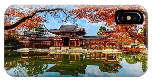 Travel Destination iPhone Case - Byodo-in Temple. Kyoto,buddhist Temple by Somsak Nitimongkolchai