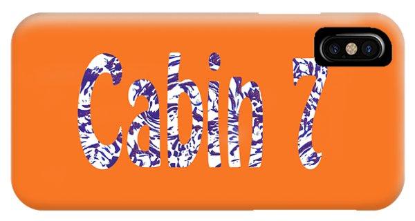 Cabin 7 Blue White Orange IPhone Case